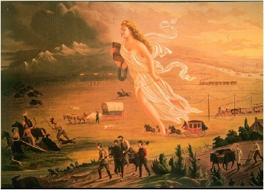 the meaning of manifest destiny a painting by john gast Manifest destiny: did the benefits outweigh the negative consequences  on john gast's american progress painting  a definition for the term manifest.