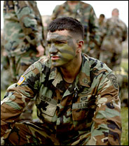 Specialist Brandon Conger signed up while underging basic training at Fort Bragg, Ga