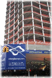 A new voluptuous building is being constructed at Astor Place