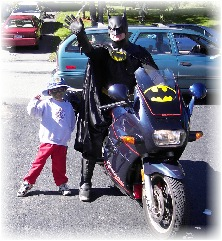 Another favorite, Batman came to the joyful event