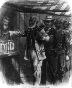 1870 Fifteenth Amendent established the right of the black male to vote