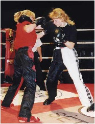 Kickboxing and other contact sports have enabled women to settle disputes with other than their tongues