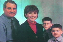 Keith Laney with his wife, Deanna, and the two children she killed, Joshua, left, and Luke