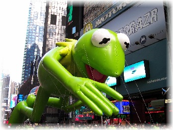 Kermit The Frog was a reminder of being green