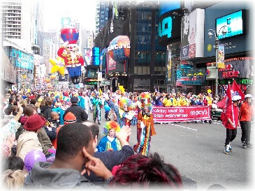 Macy's renowned Thanksgiving Day Parade...