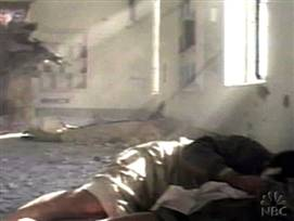U.S. marine killing a wounded Iraqi in battle situation