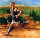 Pheidippides ran like fire.....