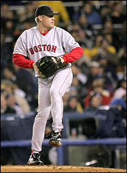 Pitcher Curt Schilling, an example of a player rising to the occasion