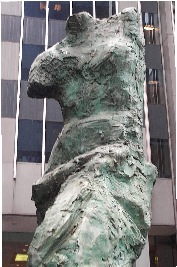 A statue on Fifth Avenue in NYC depicts an Amazon woman with one breast missing so the warrior women could draw the bow back more efficiently